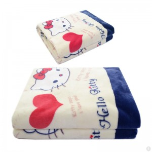 Hello Kitty Fleece Kinderdeken 150x220 cm - rood / wit / blauw