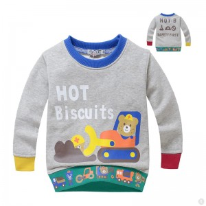 Hot Biscuits Beertjes Jongens Sweater - grijs