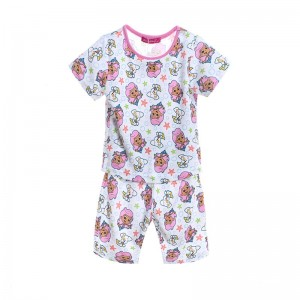 Bubble Guppies Meisjes Pyjama - wit / roze
