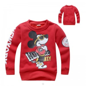 Mickey Mouse Jongens Sweater - rood